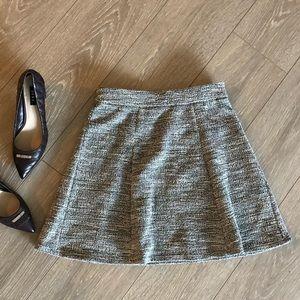 NEW Ann Taylor LOFT Tweed Flowy High Waisted Skirt
